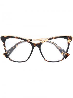 Массивные очки в оправе кошачий глаз Marc Jacobs Eyewear. Цвет: коричневый