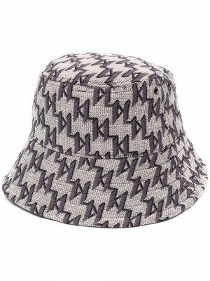 Двусторонняя панама K/Monogram Karl Lagerfeld. Цвет: нейтральные цвета
