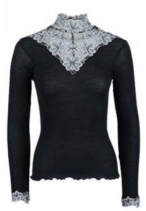 Блуза BONA DEA. Цвет: черный