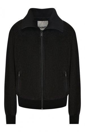 Кожаная куртка Army Yves Salomon. Цвет: черный