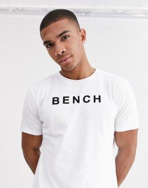 Белая oversize-футболка с принтом -Белый Bench