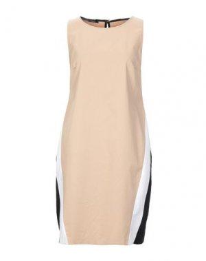 Короткое платье HANITA. Цвет: бежевый