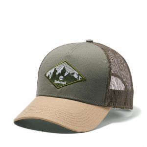 Кепки Trucker Cap with Diamond Landscape Patch Timberland. Цвет: зеленый