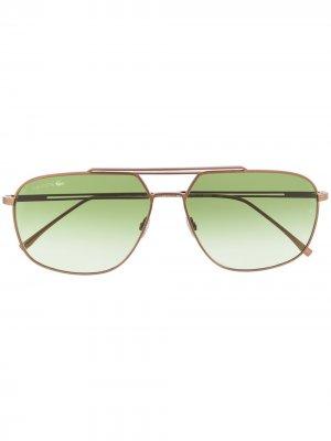 Солнцезащитные очки Paris Collection Modified Rectangle Lacoste. Цвет: коричневый