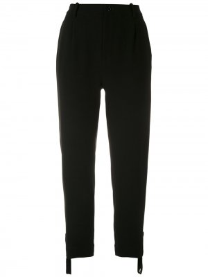 Укороченные брюки строгого кроя Gloria Coelho. Цвет: черный