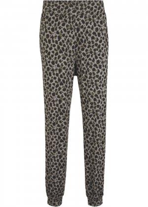 Трикотажные брюки-шаровары bonprix. Цвет: серый