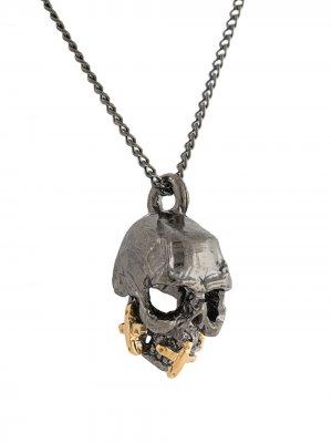 Серебряное колье с подвеской Duffy Jewellery. Цвет: черный
