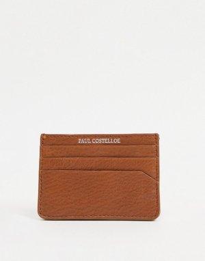 Кожаная кредитница -Коричневый цвет Paul Costelloe