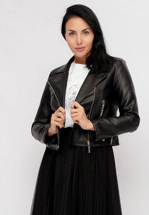 Куртка кожаная Bellart. Цвет: черный