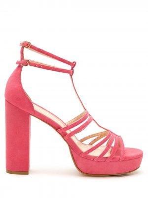 Босоножки с ремешками Eva. Цвет: розовый