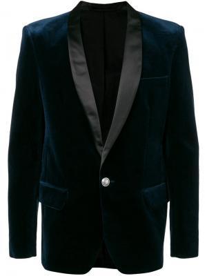 Костюмный пиджак с лацканами шалька Balmain