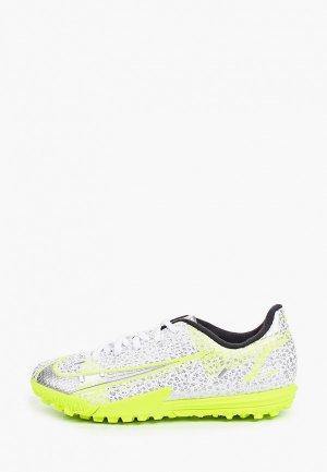 Шиповки Nike JR VAPOR 14 ACADEMY TF. Цвет: серебряный