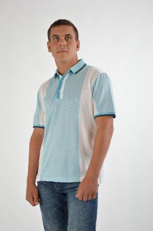 Футболка-поло Donatto. Цвет: голубой