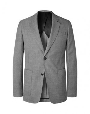 Пиджак AMI ALEXANDRE MATTIUSSI. Цвет: свинцово-серый