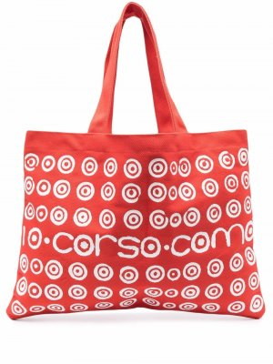 Сумка-тоут Kali с логотипом 10 CORSO COMO. Цвет: красный