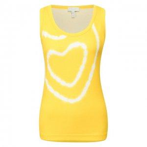 Хлопковая майка Escada Sport. Цвет: жёлтый