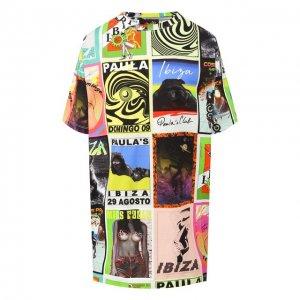 Хлопковая футболка x Paulas Ibiza Loewe. Цвет: разноцветный