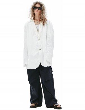 Белый пиджак из тайвека Raf Simons