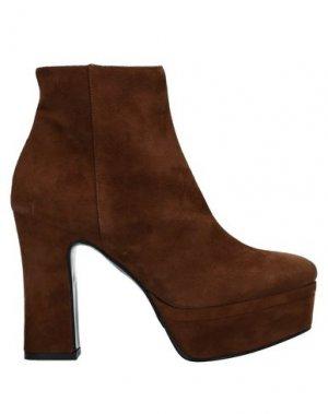 Полусапоги и высокие ботинки ALBANO. Цвет: коричневый