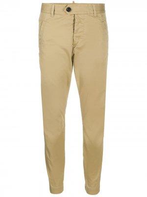 Укороченные брюки чинос Dsquared2. Цвет: нейтральные цвета