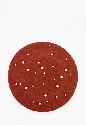 Берет Pieces. Цвет: бордовый