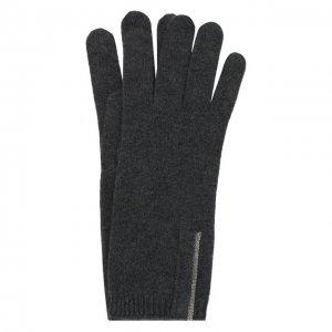 Кашемировые перчатки Brunello Cucinelli. Цвет: чёрный