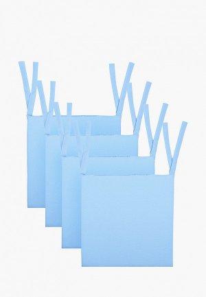 Комплект подушек на стулья Эго 4 шт. / 40х40 см. Цвет: голубой