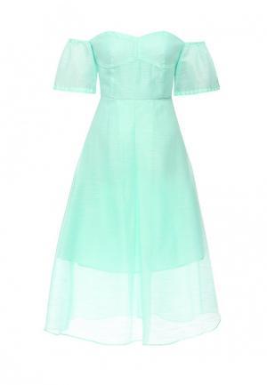 Платье Befree BE031EWIWC50. Цвет: бирюзовый