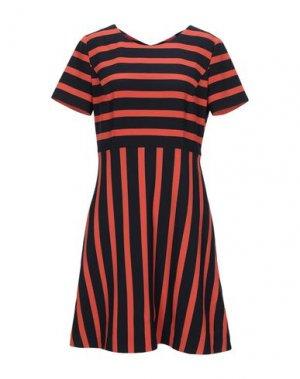 Короткое платье BOSS HUGO. Цвет: оранжевый