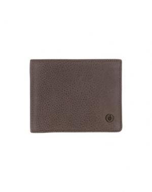 Бумажник BELSTAFF. Цвет: голубиный серый