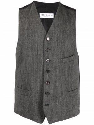 Шерстяной жилет 1990-х годов Yves Saint Laurent Pre-Owned. Цвет: серый