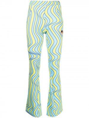 Футболка Wave с графичным принтом Fiorucci. Цвет: синий