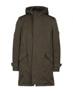 Легкое пальто ADHOC. Цвет: зеленый-милитари