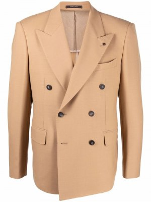 Двубортный пиджак Tagliatore. Цвет: нейтральные цвета