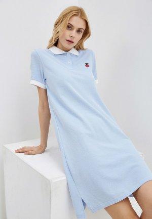 Платье Arloni. Цвет: голубой