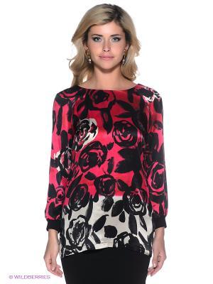 Блузка Coccapani. Цвет: фуксия, черный