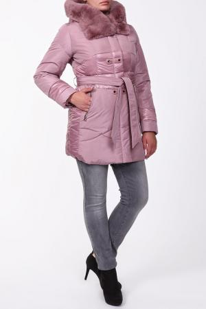 Пальто CITY. Цвет: розовый