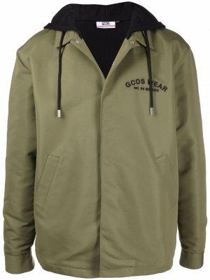 Куртка с принтом Gcds. Цвет: зеленый