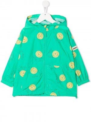 Куртка с капюшоном и принтом Bobo Choses. Цвет: зеленый