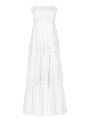 Платье хлопковое в пол Charo Ruiz. Цвет: белый