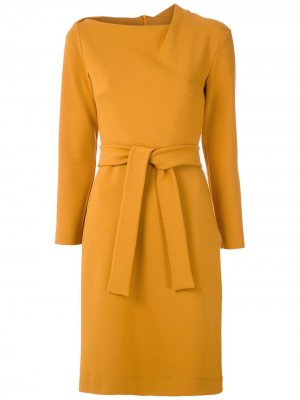 Платье с поясом и длинными рукавами Gloria Coelho. Цвет: 9931