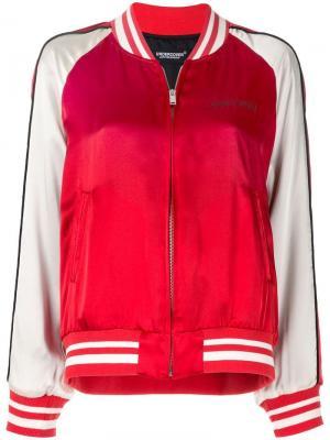 Куртка-бомбер с изображением кролика Undercover. Цвет: красный