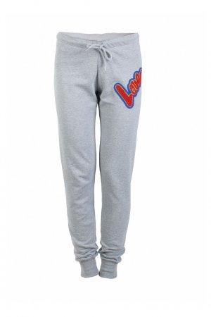 Серые брюки-джоггеры Love Moschino. Цвет: серый
