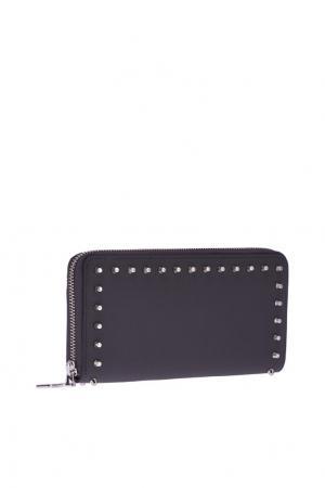 Кожаный кошелек W Panettone Christian Louboutin. Цвет: серый