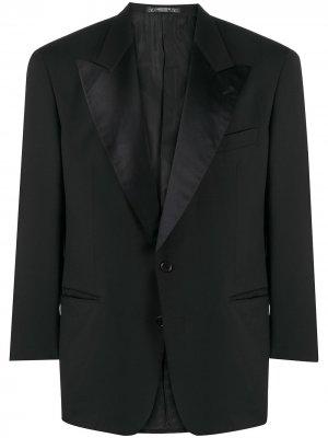 Пиджак-смокинг 1990-го года с заостренными лацканами Valentino Pre-Owned. Цвет: черный