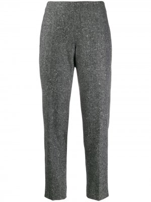 Зауженные брюки Antonio Berardi. Цвет: серый