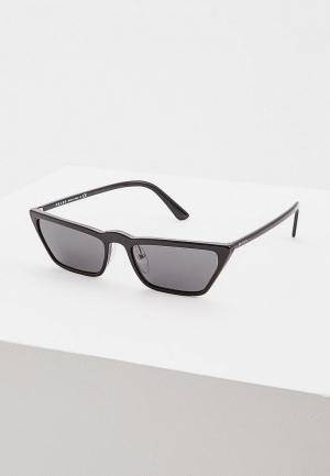 Очки солнцезащитные Prada PR 19US 1AB5S0. Цвет: черный