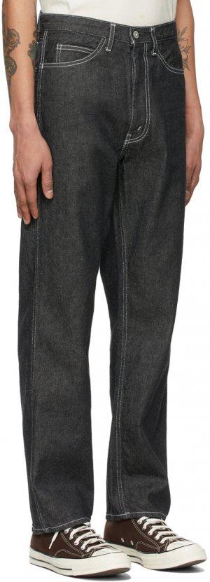 Black Anders Workers Jeans Kuro. Цвет: black