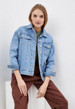Куртка джинсовая Trendyol. Цвет: голубой