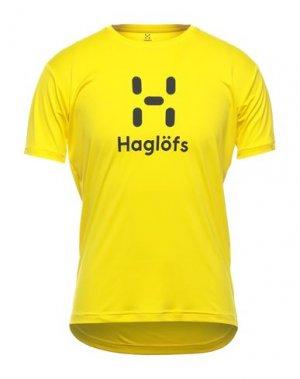 Футболка HAGLÖFS. Цвет: желтый